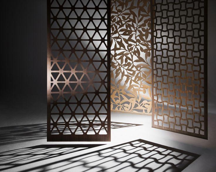 laser punched patterned wood veneer shelf backing
