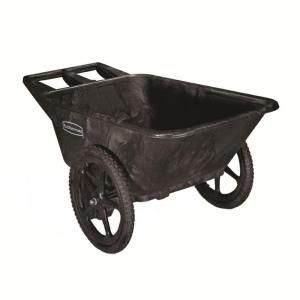 Rubbermaid Commercial Products, 7.5 cu. ft. Plastic Yard Cart, FG564200BLA at The Home Depot - Mobile