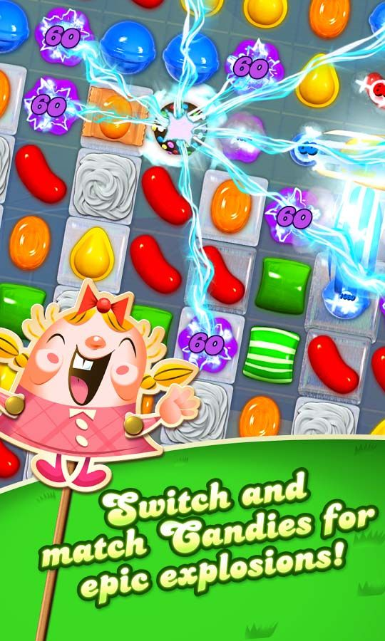 Candy Crush Saga is a freetoplay matchthree puzzle