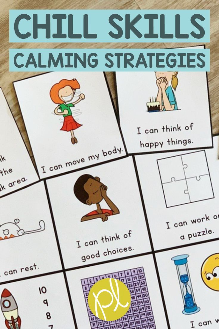 Chill Skills For Your Calm Down Corner Add These Visuals To Support Behavior With K 2 From Positively L Positive Learning Calming Strategies Calm Down Corner