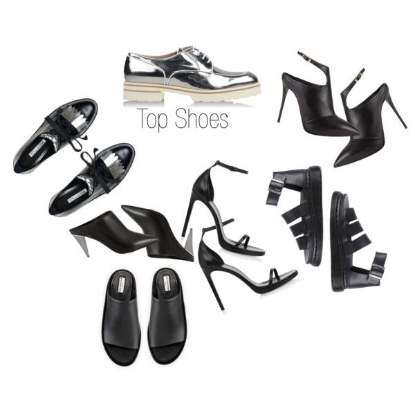 Top Shoes by ngieka on Polyvore featuring Giuseppe Zanotti, Oscar de la Renta, Yves Saint Laurent, Balenciaga, Narciso Rodriguez, Fratelli Rossetti and Dr. Martens