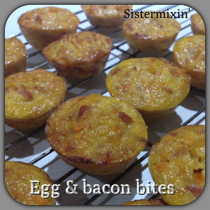Egg and bacon bites