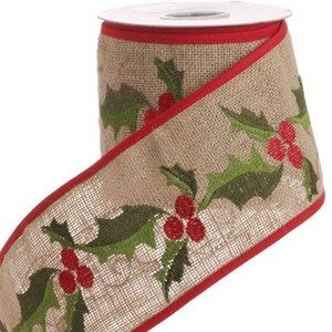 Christmas Burlap Ribbon