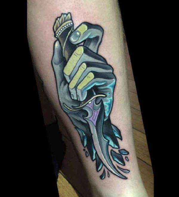 1000 ideas about dagger tattoo on pinterest tattoos for Butcher knife tattoo