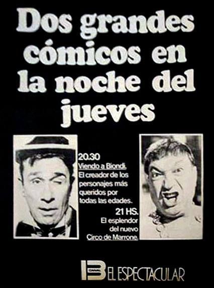 CANAL 13, Buenos Aires, década del 60.