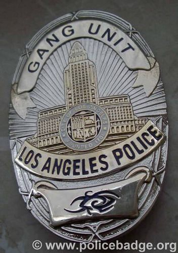 Badge LAPD Gang Unit, via Flickr.