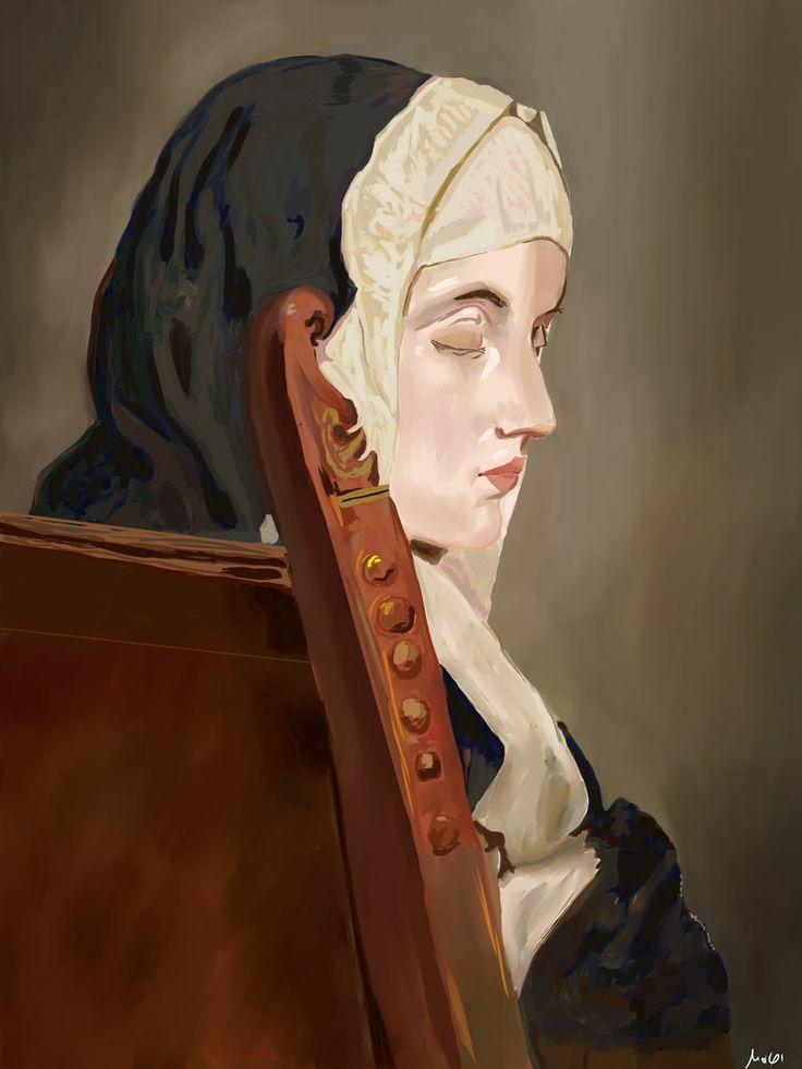 The Nun - Hayez by Mixmax3d.deviantart.com on @DeviantArt #digitaldrawing #digitaldraw #hayez #mixmax3d #digitalpaint #digitalpainting #portrait