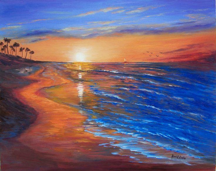 Last hour sunset-  Napili beach-Maui-Hawaii-