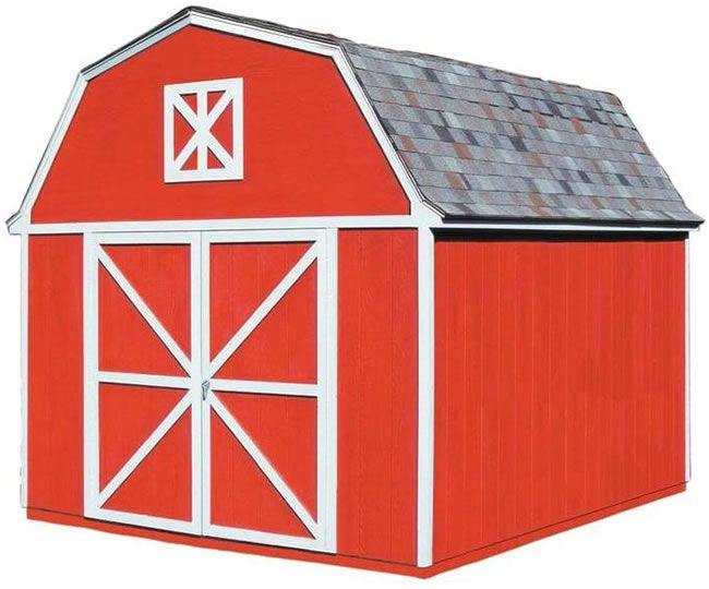 Handy Home Berkley 10x12 Wood Storage Shed Kit 18512 0 Wood Storage Sheds Shed Kits Shed
