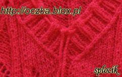 plisa 2x2 dla dekoltu w szpic