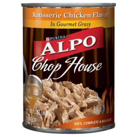 Purina Alpo Chop House Rotisserie Chicken Flavor In Gourmet Gravy Dog Food 13 oz. Can, Multicolor