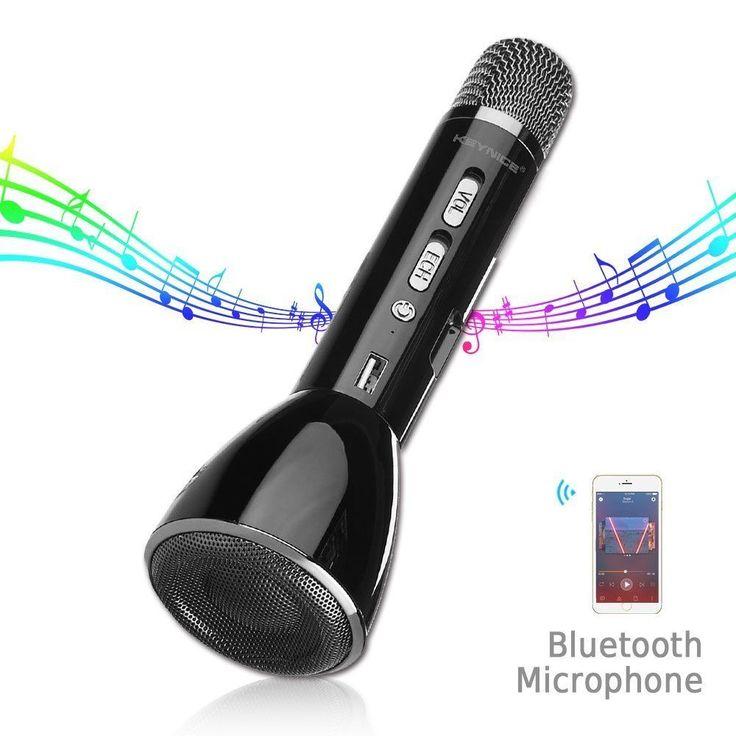 Keynice Bluetooth Wireless Speaker Handheld Microphone for Karaoke Singing compa #KEYNICE