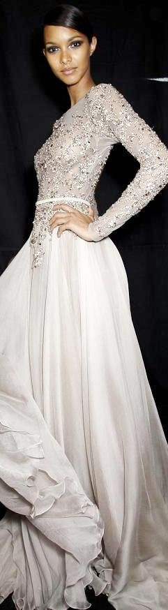 Elie Saab Haute A/W 2013, backstage.  Post Bridal Dress.! #MyStyleLaVie #ILoveFashion.