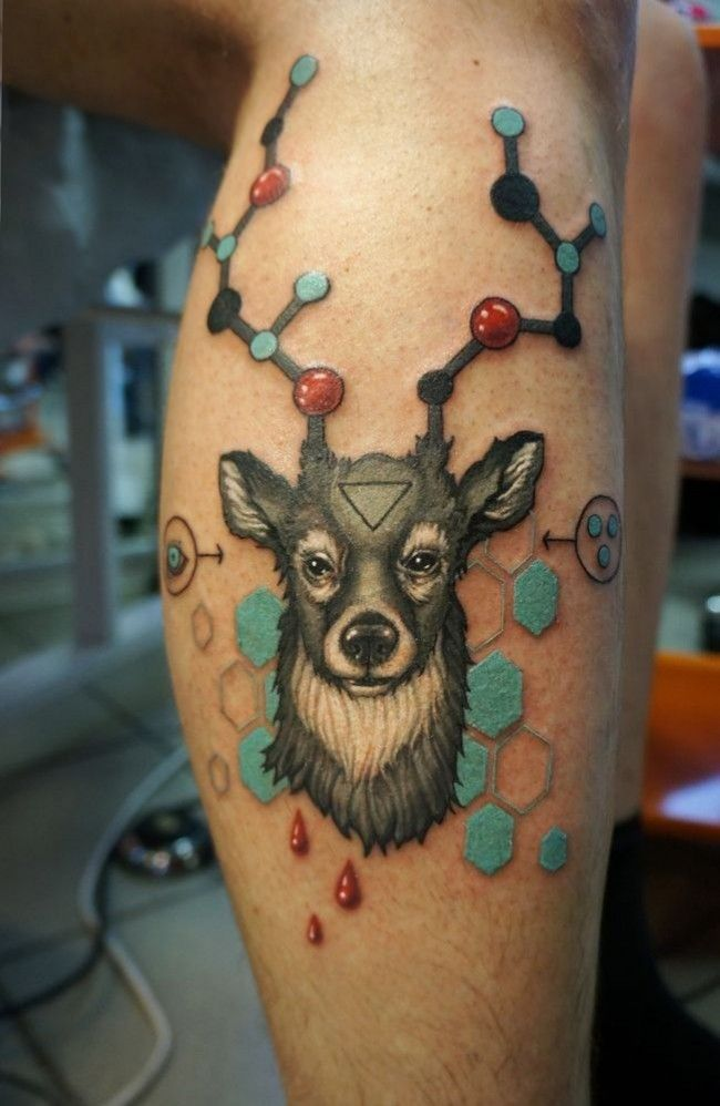 tattoo-journal | 30 Scientific Atomic Tattoo Designs and Ideas – Secrets of The Universe | http://tattoo-journal.com