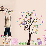 kutilství+samolepky+na+zeď+opice+zvíře+v+zoo+samolepících+plastových+omyvatelný+Lepicí+obrazy+na+stěnu+–+CZK+Kč+384