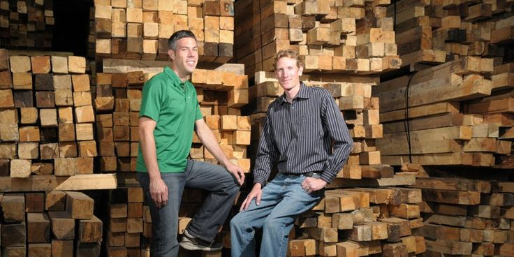 Founders joe mitchoff and pierce henley of viridian Reclaimed wood flooring portland