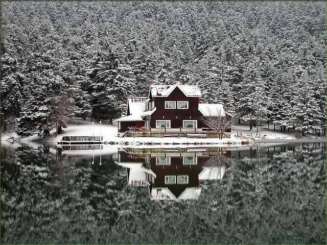Lake Gölcük  - Winter -      Bolu - TURKEY