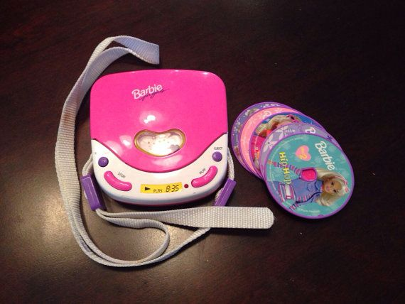 90s Music Toys : S barbie cd player by thevelvetdollhouse on etsy