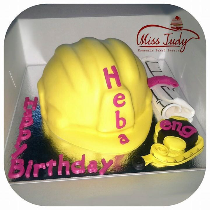 Civil Engineering Safety Helmet Cake