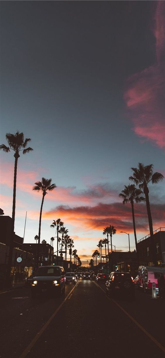 Los Angeles #Tapete #Lockscreen #Stadtlichter #Palmen   – STRUKTUREN MUSTER