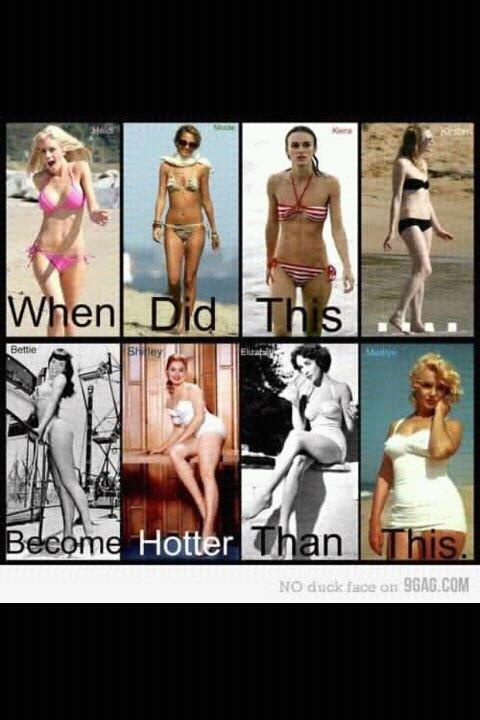 When did this...become hotter than this.