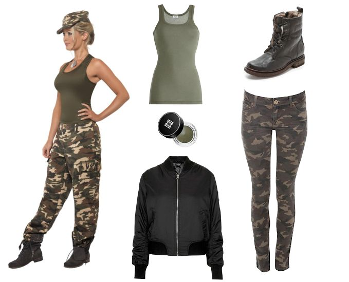 Diy Halloween Costumes  Army Girl  Holiday Inspirations -8986