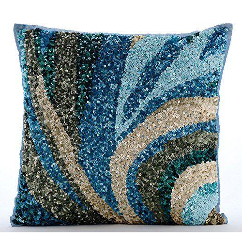 Luxury Light Blue Accent Pillows, Sequins Sea Waves Ocean... https://www.amazon.com/dp/B01645ZGDK/ref=cm_sw_r_pi_dp_x_pYGcybCCAVAJZ