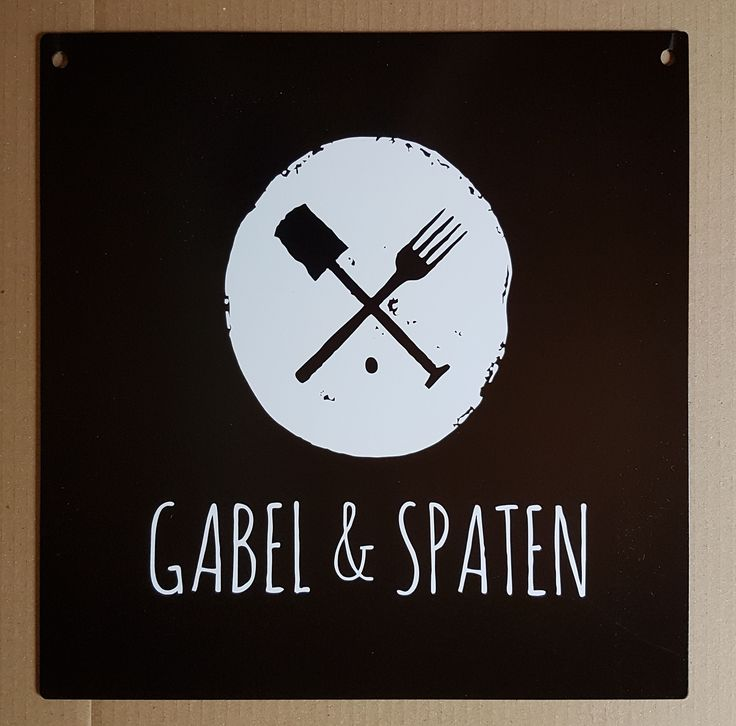 Restaurant sign, 2 mm steel. Marl, Germany.