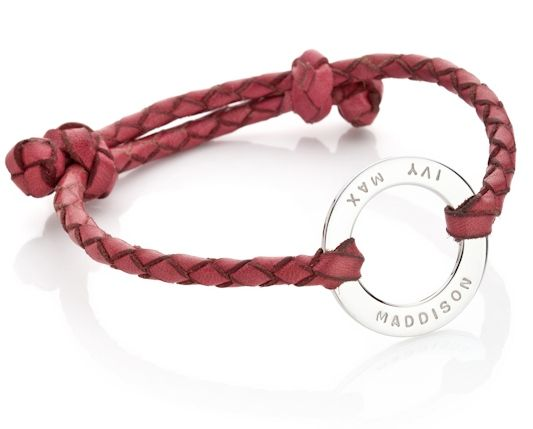 The Gus: Hand plaited soft leather, carefully bracelet attached to sterling silver pendant. By Koolaman Designs.