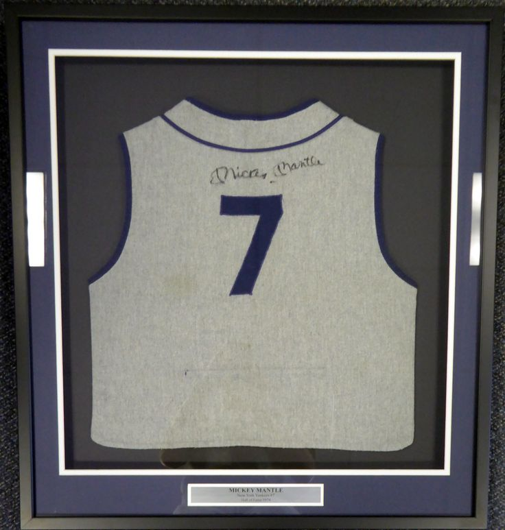 Mickey Mantle Autographed Framed Mickey Mantle's Restaurant Jersey Vest PSA/DNA #S06533