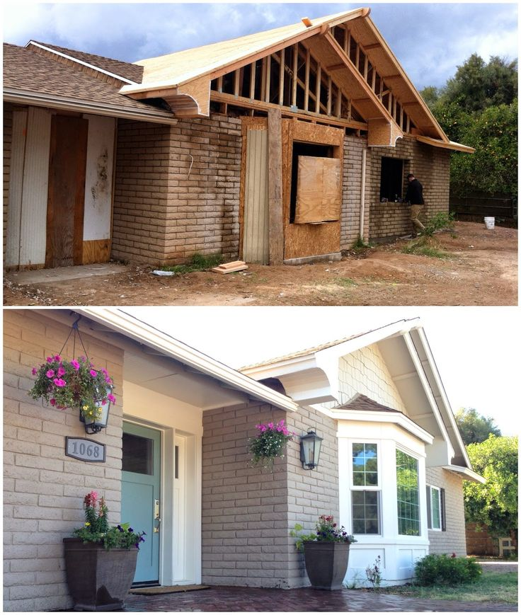 17 best ideas about painted brick ranch on pinterest for 60s house exterior makeover