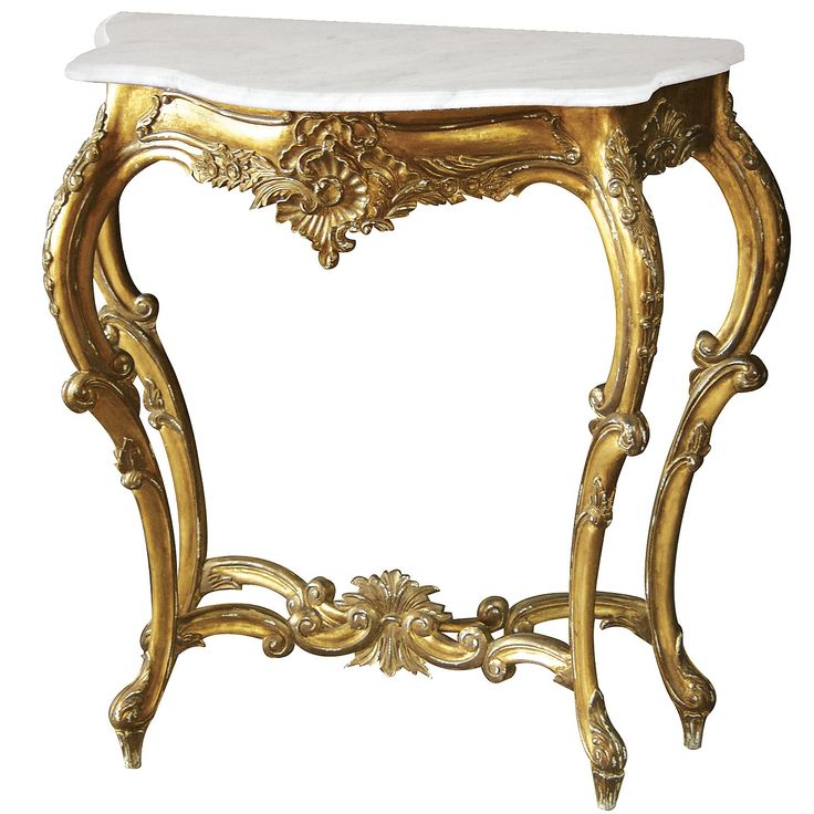 Versailles Gold Shabby Chic Console Table (small)|Console Tables|Tables|French Bedroom Company