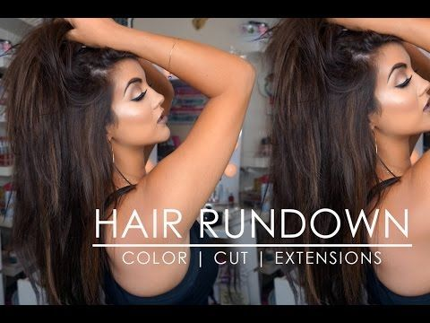 Hair Update | New Color + Cut + Sew In & Tape In Extensions - YouTube