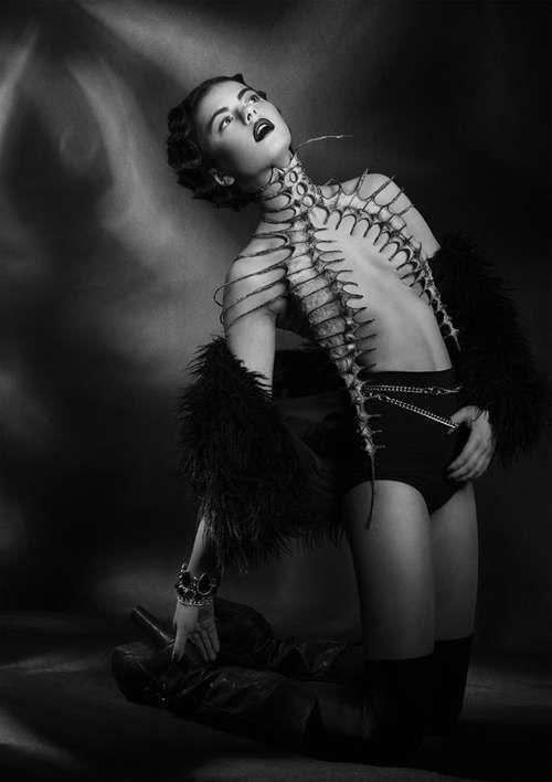 Skeletal Caged Couture - Nika Danielska Designs Sharply Fierce Fashion Accessories (GALLERY)