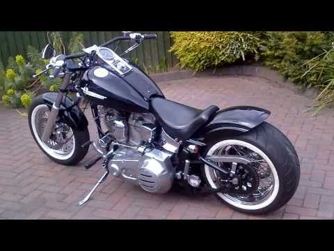 Harley Davidson 1986 Fxst softail bobber chopper hotrod custom 240 rear wheel tyre conversion