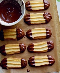 Jo Wheatley's Viennese Fingers #food #chocolate #fingers www.loveitsomuch.com