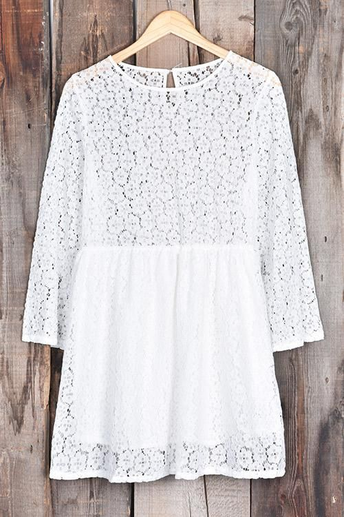 Cupshe White Jade Lace Dress #aflink