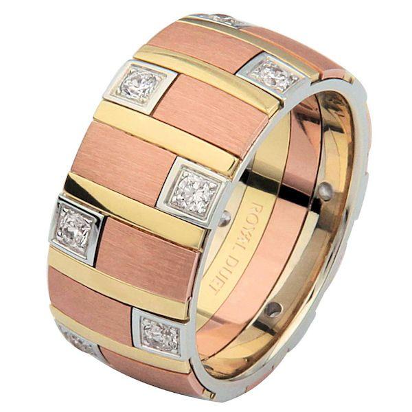 Tri-Color Diamond Ring   www.weddingbands.com   @Judy Clark Bands