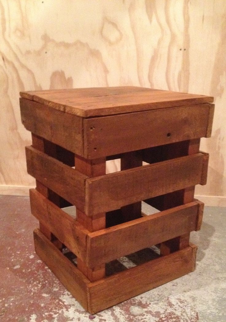 Pallet side table for hubby's man cave.