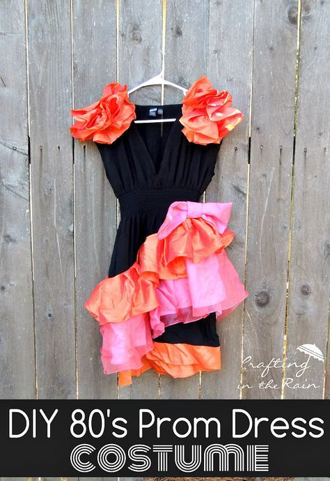 80s Prom Dress Costume | Crafting in the Rain #80s #costume #halloween