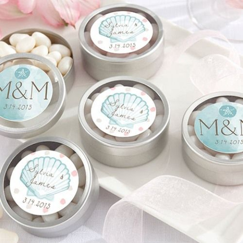 Personalized Beach Theme Candy Tins
