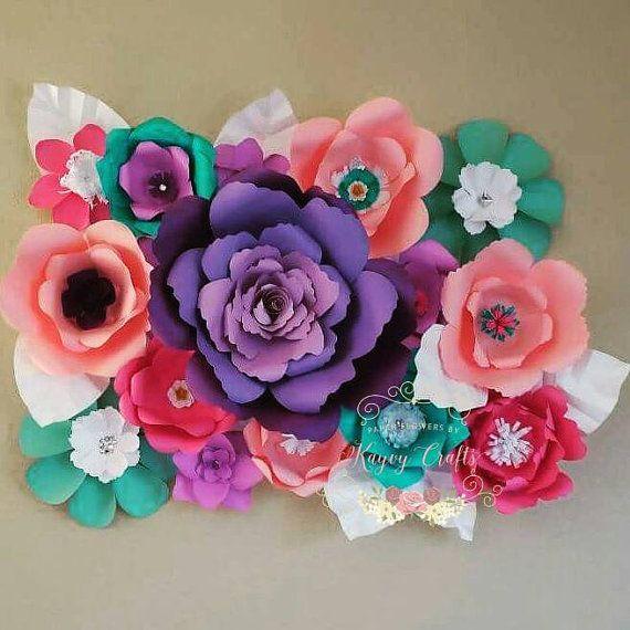 49 best decoraciones con flores de papel images on pinterest - Decoraciones para paredes ...