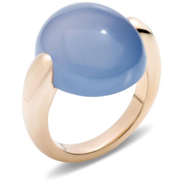 Pomellato Ring Luna ($4,610) ❤ liked on Polyvore featuring jewelry, rings, blue, pomellato, pomellato rings, cabochon jewelry, blue ring and blue jewelry