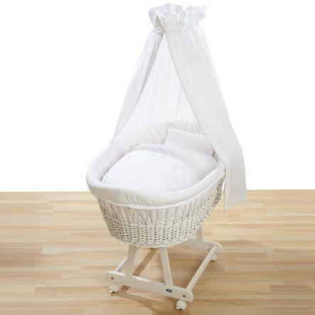 ALVI Berceau Birthe, pin blanc, avec set poour berceau 321-0 Hello Baby, blanc - Paiement sécurisé ✓ Livraison offerte dès 40€ ✓ Expédition 2-4 jours ✓