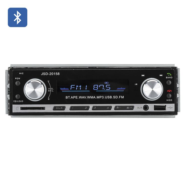 At a Glance... - One DIN universal fitting Car Stereo makes installation easy - One touch communication with Bluetooth - Quick easy music access with front USB, SD and Aux in ports - Remote control fo