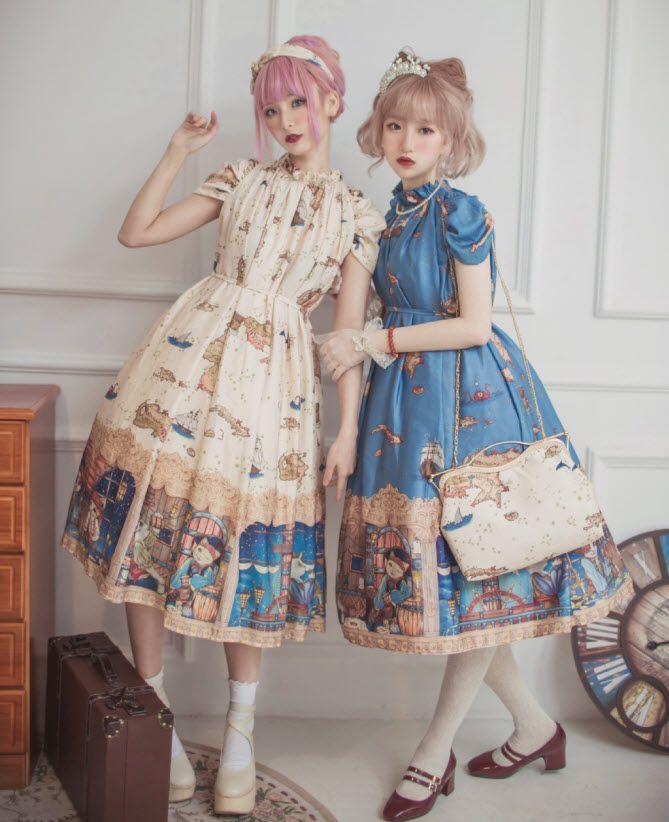 Loitas - Little Roe Deer -Cats' Voyage Through the Universe- Lolita OP Dress