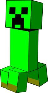 Free download Minecraft Creeper Clipart for your creation.
