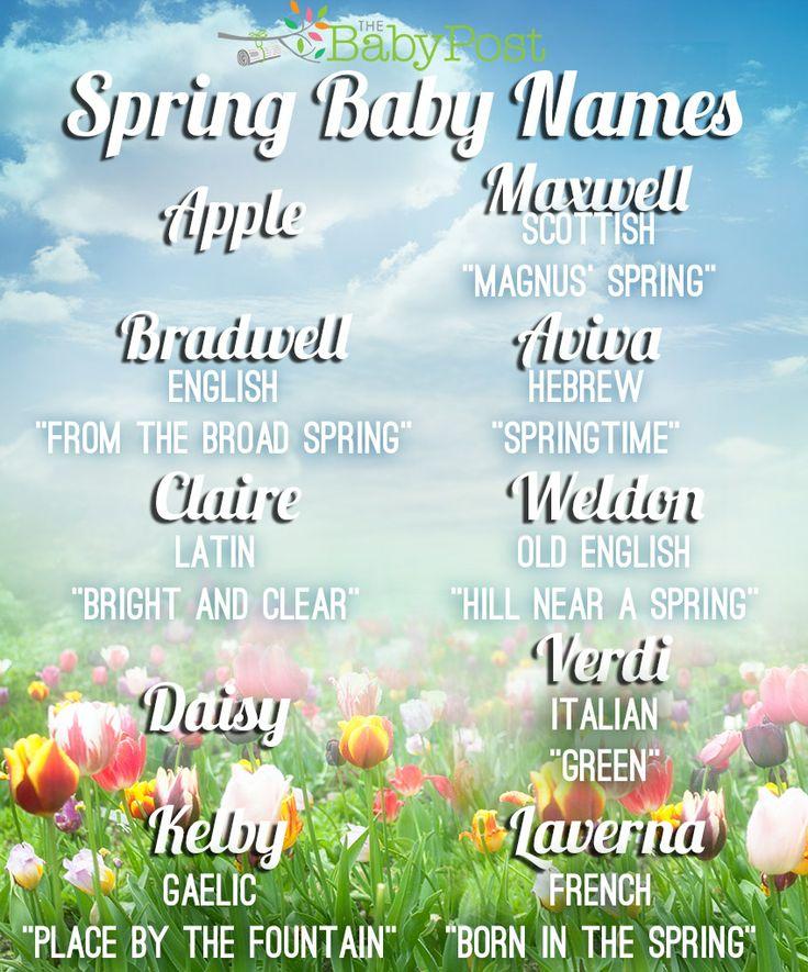Spring Baby Names: Spring Baby Names #babynames #spring #parenting