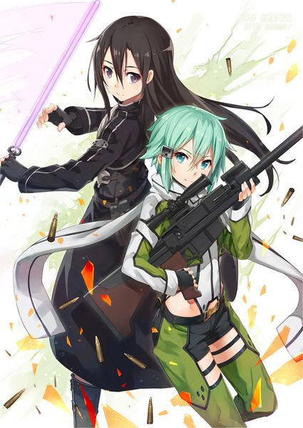Gun Gale Online Kirito and Sinon