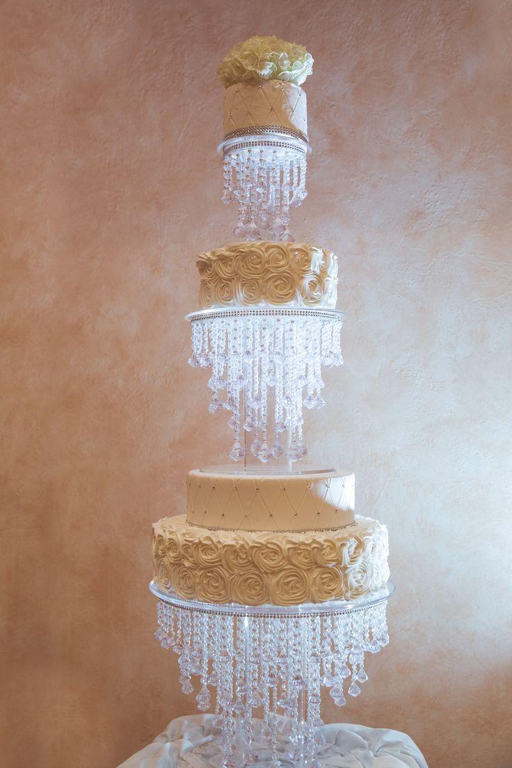- Crystal wedding cake. Ivory wedding cake , Bling ...